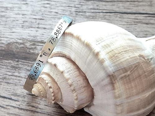 Myrtle Beach Coordinates Bracelet