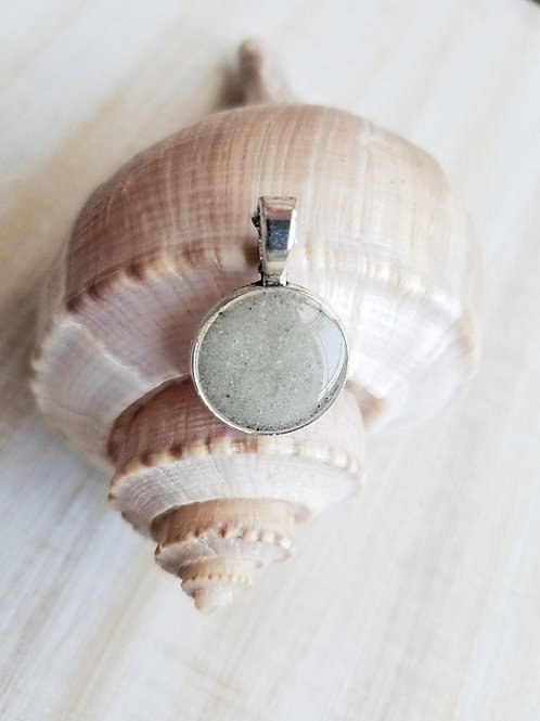 Clearwater Beach Sand Small Circle Pendant
