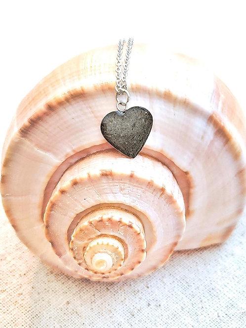 Seabrook Island Beach Sand Heart Pendant Necklace