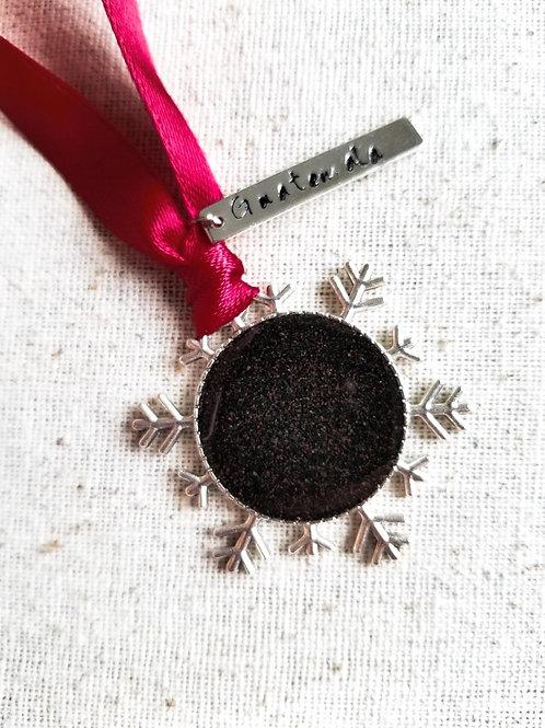 Guatemala Beach Sand Snowflake Christmas Holiday Ornament