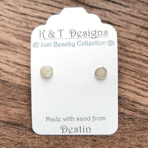 Destin Beach Sand Stud Earrings