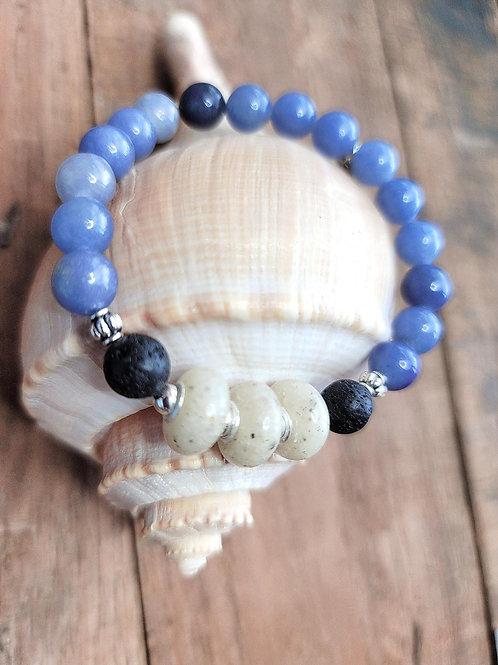 Anna Maria Island Beach Sand Bracelet with Aventurine Gemstone Beads