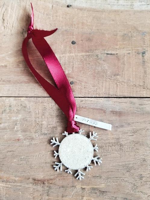 Aruba Beach Sand Snowflake Christmas Holiday Ornament