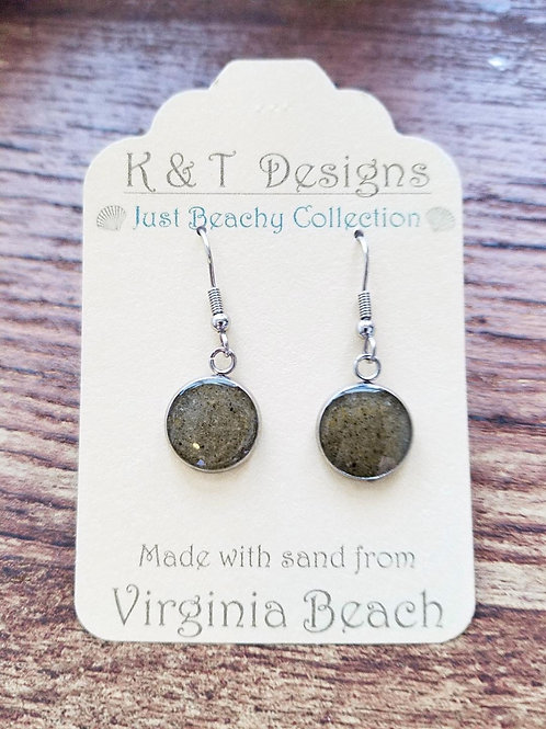 Virginia Beach Sand Dangle Earrings