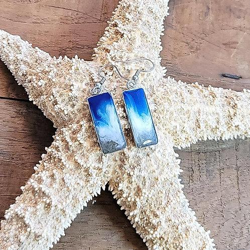 Myrtle Beach Sand Shoreline Dangle Earrings