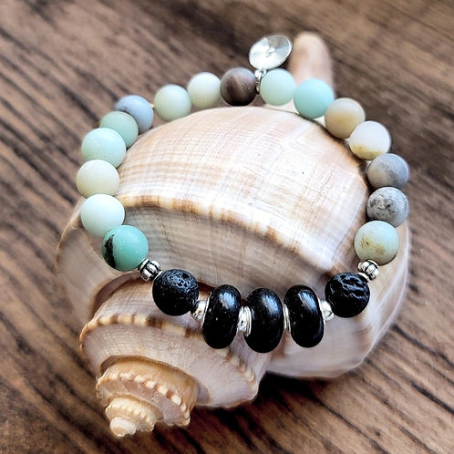 Guatemala Beach Sand Bracelet with Amazonite Gemstones
