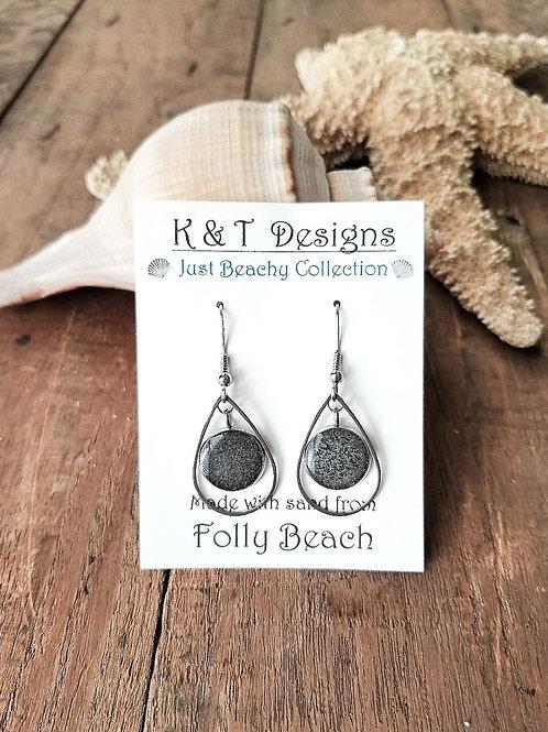Folly Beach Teardrop Dangle Earrings