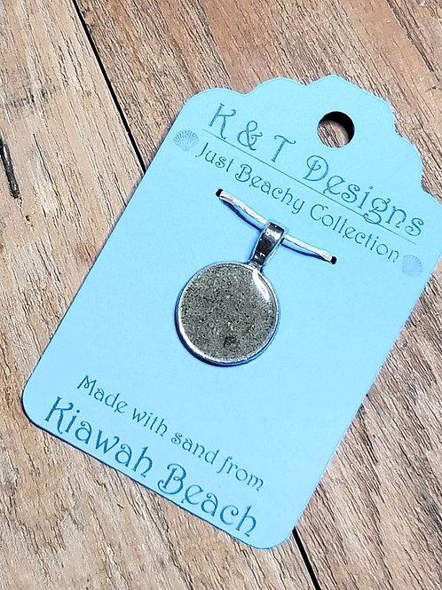 Kiawah Beach Sand Small Circle Pendant / Necklace