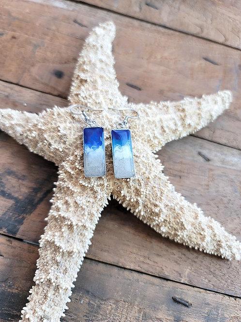 Destin Beach Sand Shoreline Dangle Earrings