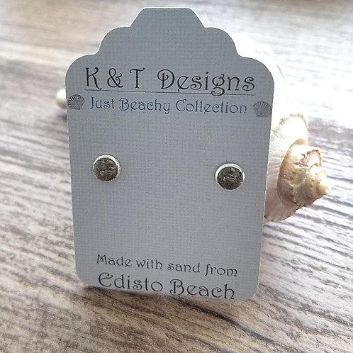 Edisto Beach Sand Stud Earrings
