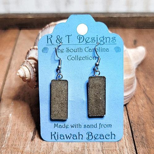 Kiawah Beach Sand Rectangle Dangle Earrings