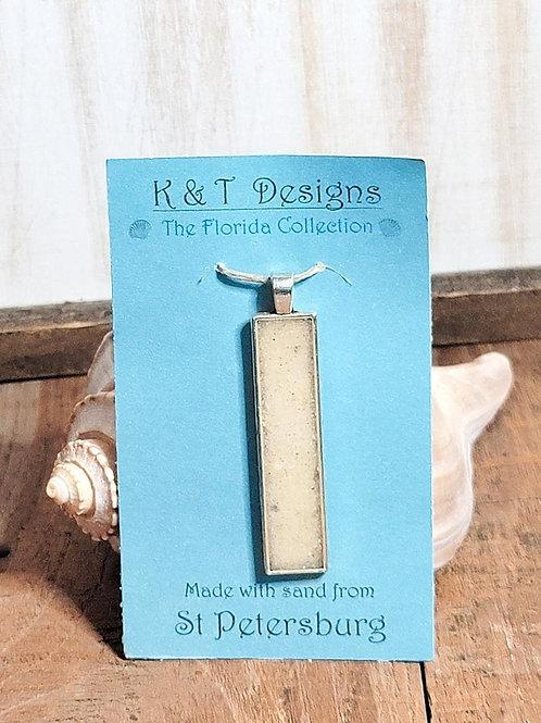 St Petersburg Beach Sand  Bar Pendant / Necklace