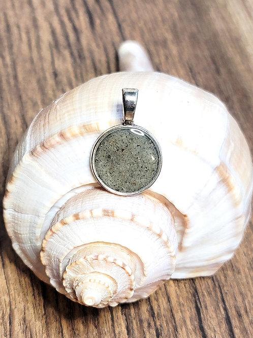 Fripp Island Beach Sand Circle Pendant Necklace