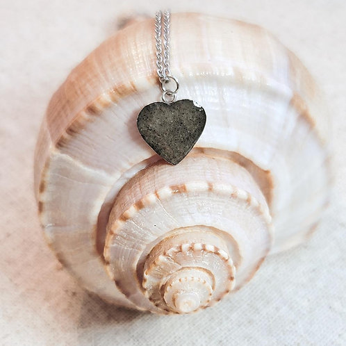 Hilton Head Beach Sand Heart Pendant Necklace