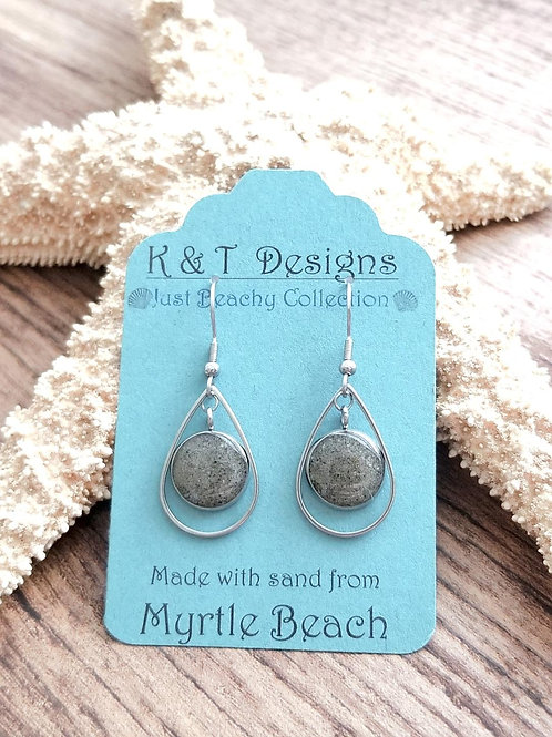 Myrtle Beach Sand Teardrop Dangle Earrings
