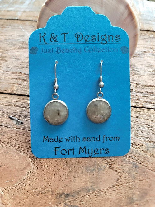 Fort Myers Beach Sand Dangle Earrings