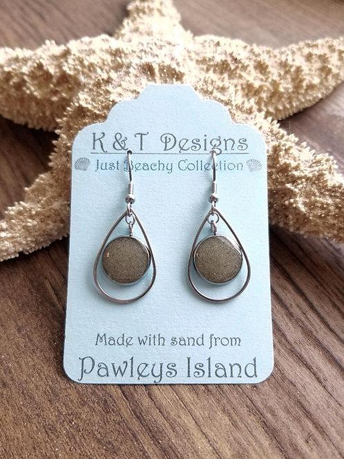 Pawleys Island Beach Sand Teardrop Earrings