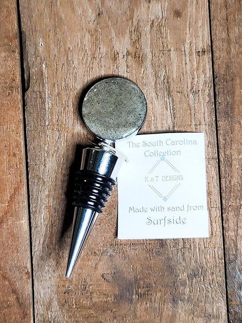 Surfside Beach Sand Wine Bottle Stopper