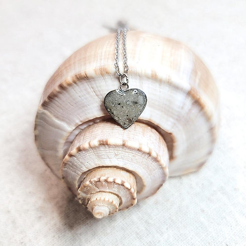 Anna Maria Beach Sand Heart Pendant Necklace