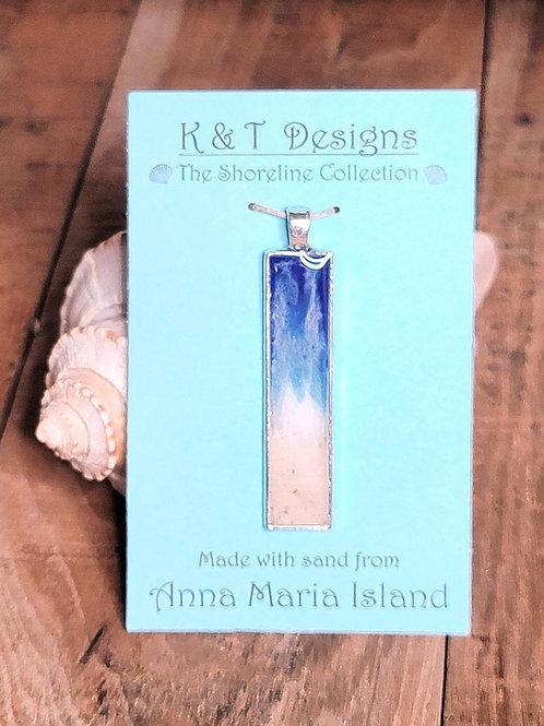 Anna Maria Beach Sand Shoreline Bar Pendant / Necklace