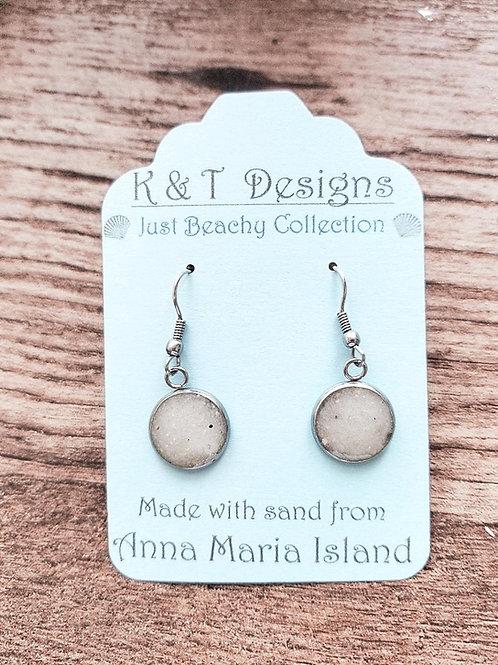 Anna Maria Island Beach Sand Dangle Earrings