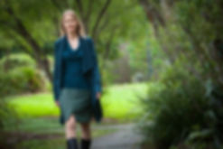 Naturopath, Cindy Morris is walking in the park