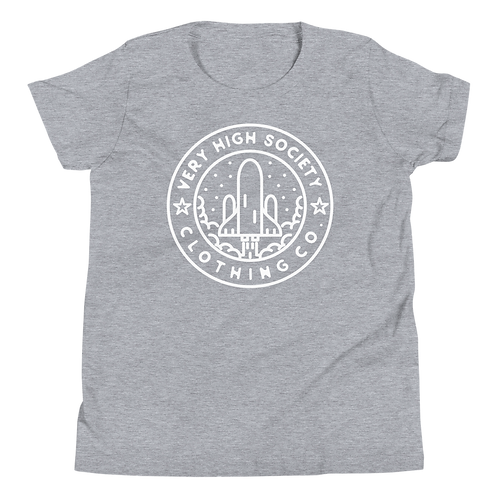 Space Patch Kids Tee (Heather Gray/White)