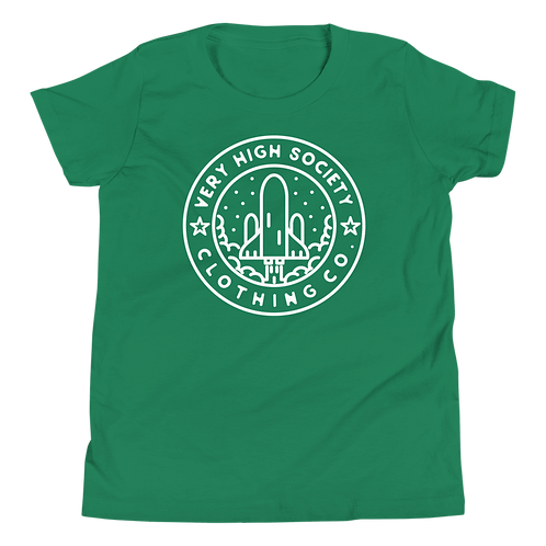 Space Patch Kids Tee (Green/White)