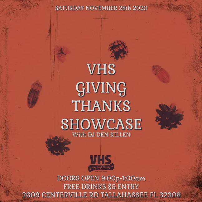 VHS GIVING THANKS SHOWCASE