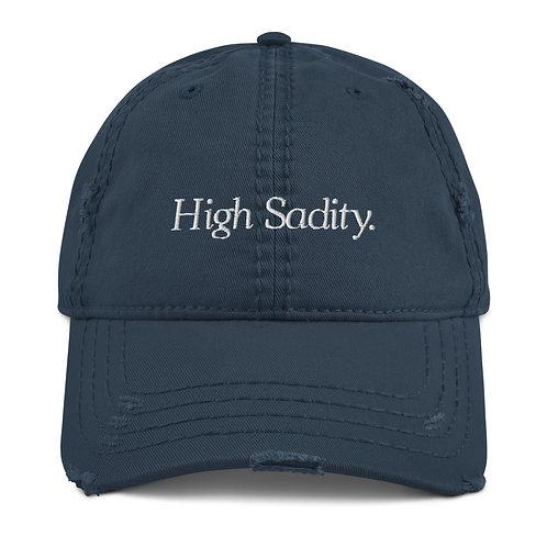 """High Sadity"" Distressed Dad Hat"