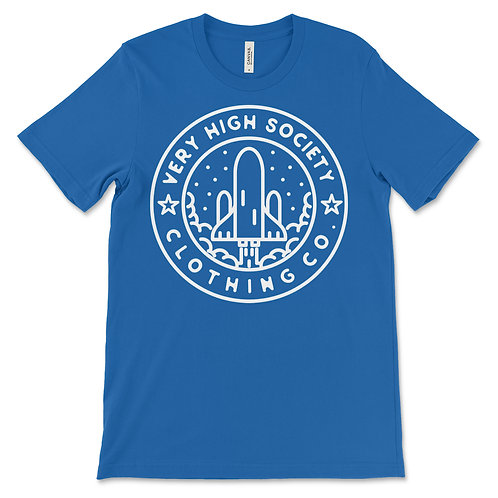 VHS Space Patch Logo Tee Blue/White