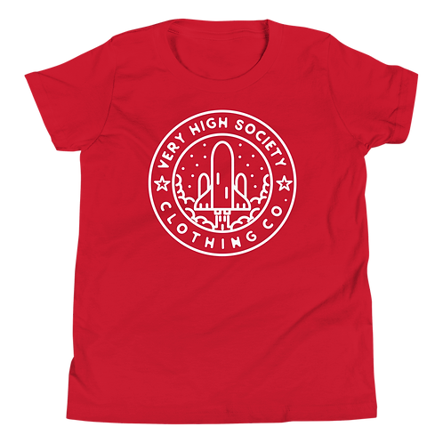 Space Patch Kids Tee (Red/White)