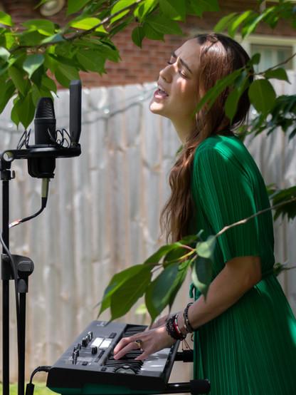 Marie Elodie at videoshoot for 'Moon'