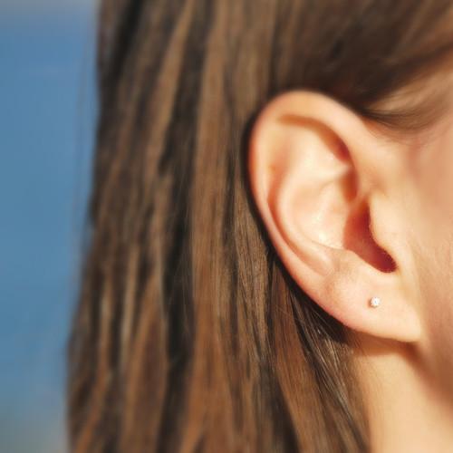 Tiny Sparkles Diamond Stud Earrings