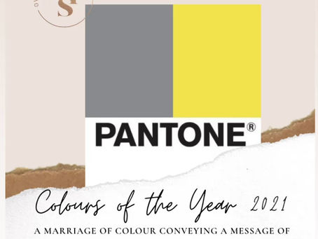 Pantone selects two colours of the year for 2021!