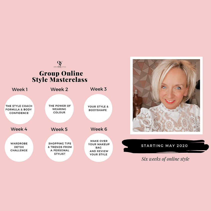 """6 week online style group coaching """"Transform Your Style with Confidence"""""""