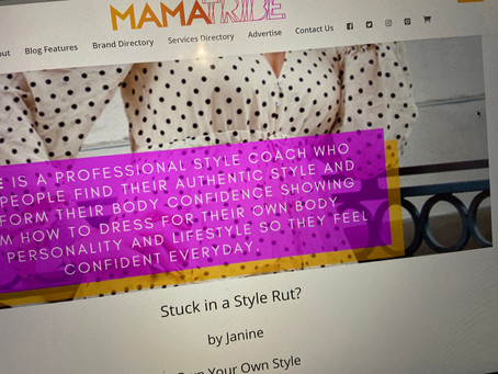 Stuck in a Style Rut - a blog feature for Mamatribe