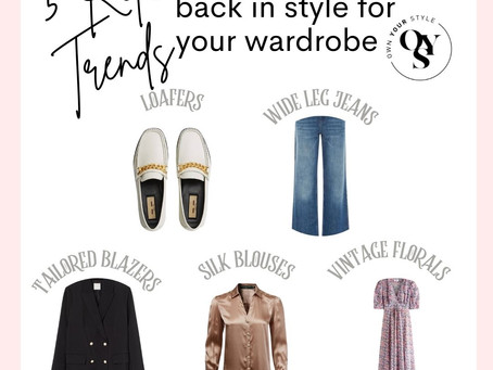 5 Retro trends to put back in your wardrobe this season!