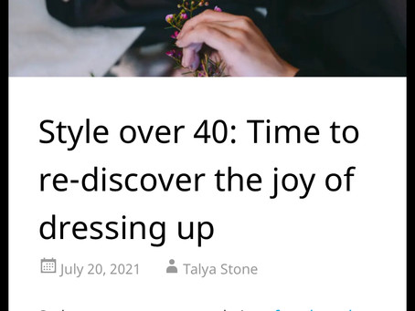 Style over 40: Time to re-disvover the joy of dressing up