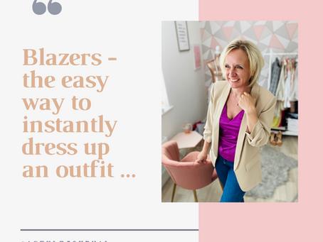 Four ways to style a blazer...