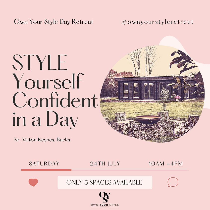 SOLD OUT Style Yourself Confident in a Day - July