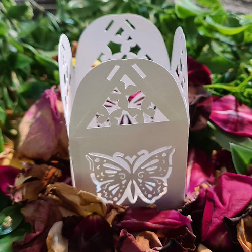Square Butterfly White Gift Box
