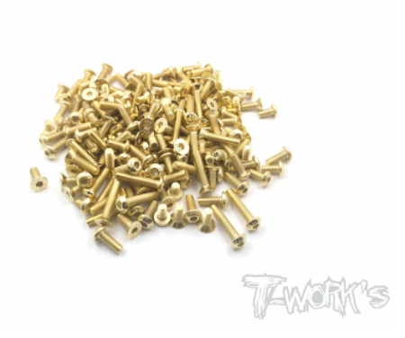 Gold Plated Steel Screw Set 125pcs - SWORKZ S12-2