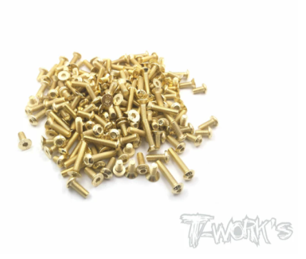 Gold Plated Steel Screw Set 112pcs - SWORKZ S14-3