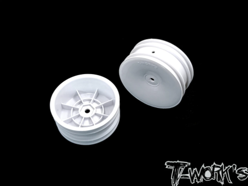 """TWORKS 2.2"""" 12mm Hex 1/10th WHITE Buggy STANDARD Front Wheel"""