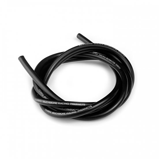 Muchmore Super Flexible High Current Silicon Wire 10 AWG Black 100cm