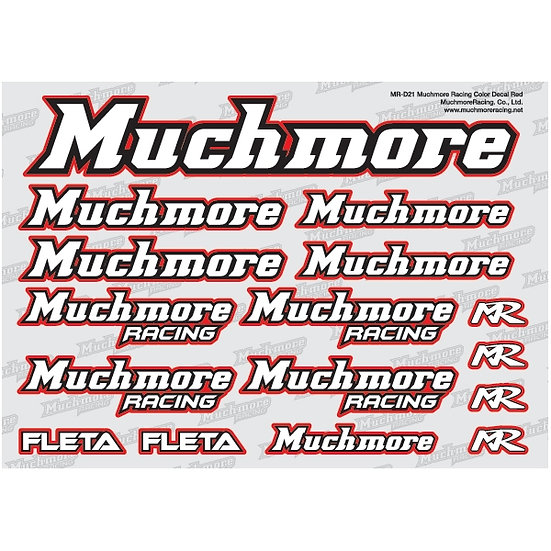 Muchmore Racing DECALS