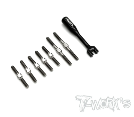 TWORKS Titanium Turnbuckle Set - Xray T4'21