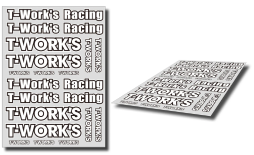 T-Work's FACTORY Team White Decal A
