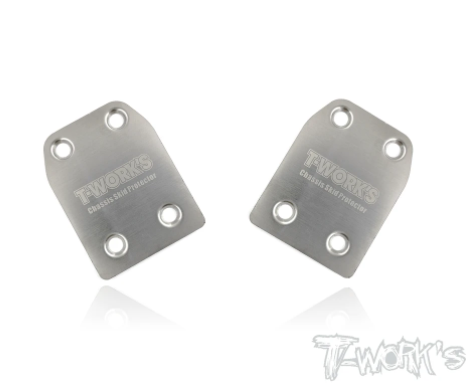 TWORKS Stainless Steel Rear Chassis Skid Protector - Xray XB8, XB9,XB8E - 2pcs